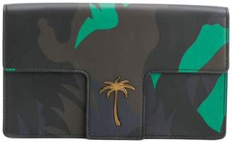 Tomas Maier camo palm t-flap clutch