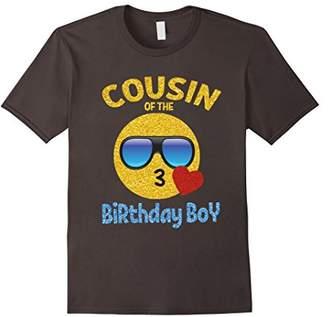 Cousin of the Birthday Boy Emoji Shirt Kiss Heart Emoji Tee