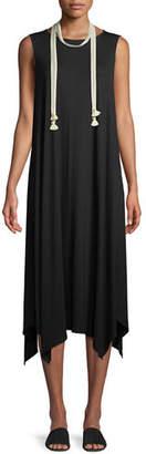Eileen Fisher Sleeveless Jersey Handkerchief Dress