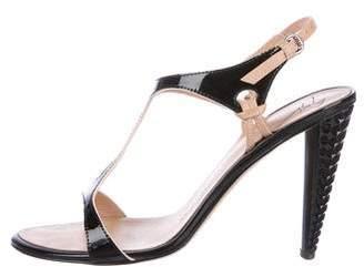Giuseppe Zanotti Patent Leather T-Strap Sandals