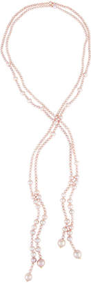 BELPEARL Endless Double-Strand Pink Freshwater Pearl Necklace