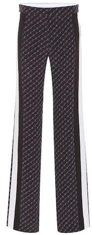 High-rise wide-leg silk pants