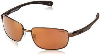 Revo Shotshell RE 1017 02 OR Polarized Rectangular Sunglasses, Brown Open Road, 60 mm $229 thestylecure.com