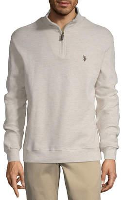 U.S. Polo Assn. USPA Mens Mock Neck Long Sleeve Quarter-Zip Pullover