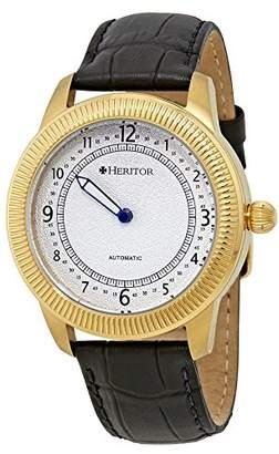 Heritor Men's HERHR2403 Hoyt Black Leather Watch
