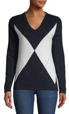 Tommy Hilfiger Diagonal Plaid Cotton Sweater
