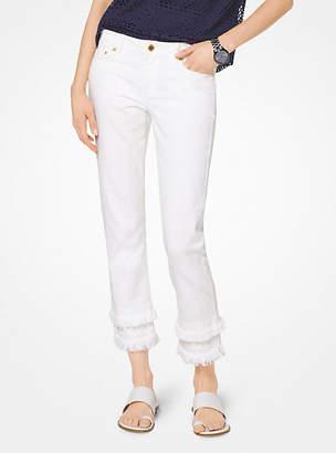 Michael Kors Frayed Hem Jeans