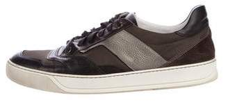 Lanvin Leather-Trimmed Low-Top Sneakers