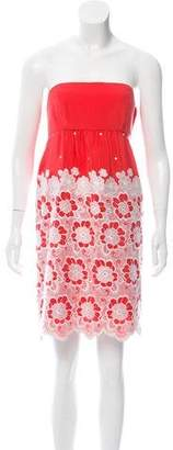Tibi Embroidered Silk Dress