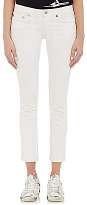 R 13 Women's Kate Skinny Distressed Jeans - White