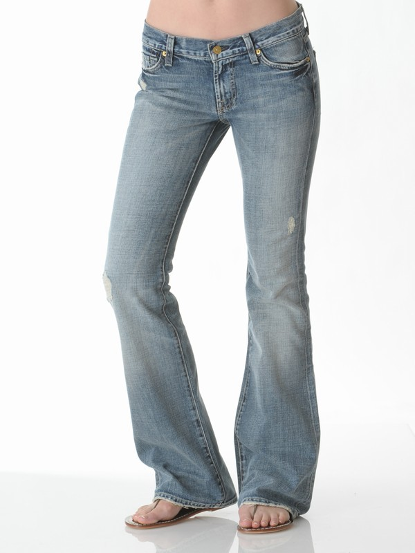 7 For All Mankind Flare Jean in Light Havana