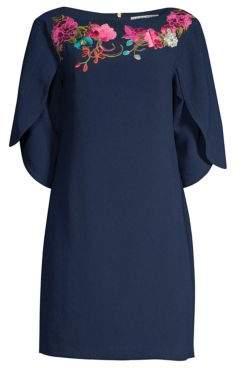 Trina Turk Embroidered Petal Sleeve Dress