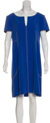 Alberta Ferretti Short Sleeve Knee-Length Dress