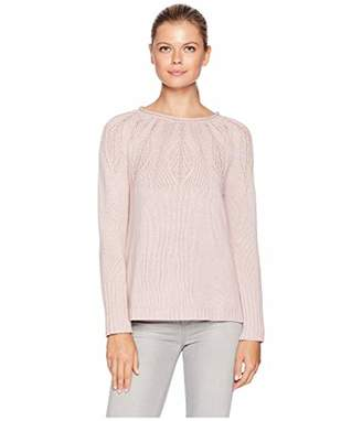 Chaps Women's Stitched-Yoke Crewneck Pull Over Long Sleeve Sweater, L