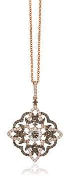 LeVian Le Vian Chocolatier Diamond & 14K Rose Gold Elegant Pendant Necklace