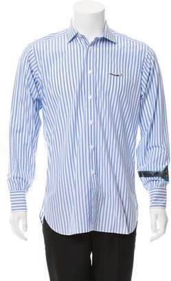 Billionaire Boys Club Turnbull & Asser x Embroidered Striped Shirt