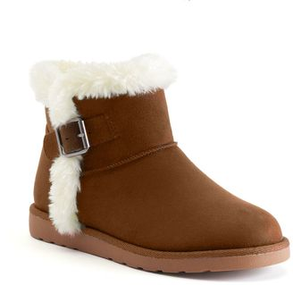 SO® Women's Fuzzy Ankle Boots $59.99 thestylecure.com
