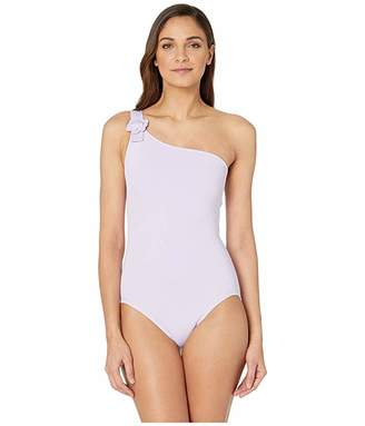 Kate Spade Daisy Buckle One Shoulder One-Piece