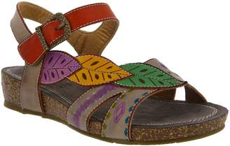 Spring Step L'Artiste Leather Wedge Sandals - Kukonda