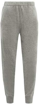 Allude Cuffed Ankle Cashmere Trousers - Womens - Dark Grey