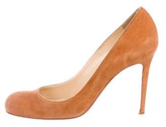 Christian Louboutin Suede Round-Toe Pumps Suede Round-Toe Pumps