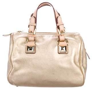 MICHAEL Michael Kors Metallic Leather Handle Bag