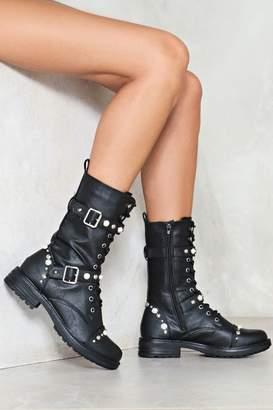 Nasty Gal Stud Up Embellished Boot