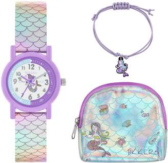 Seiko Tikkers Mermaid Watch Charm Bracelet and Purse Set