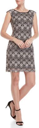 Connected Apparel Petite Lace Shift Dress