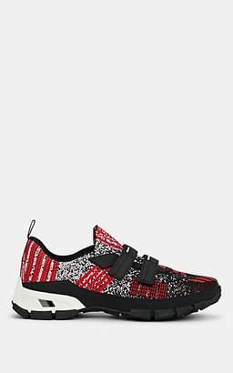 Prada Men's Double-Strap Tech-Knit Sneakers - Red