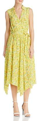 Moschino Lemon-Print Silk Wrap Dress