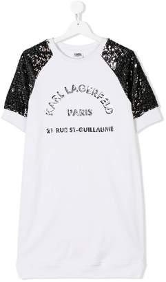 Karl Lagerfeld sequinned sweatshirt dress