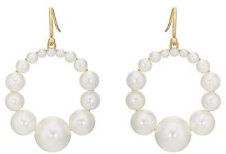 Irene Neuwirth Women's Pearl Hoop Earrings