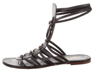 Saint Laurent Leather Caged Sandals