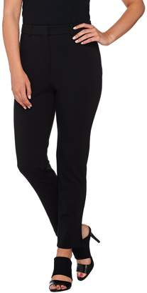 Shape Fx Ponte Knit Pull-On Slim Leg Ankle Pants
