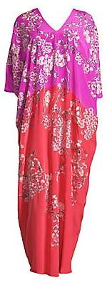 Natori Women's Hana Floral Silk Nightgown