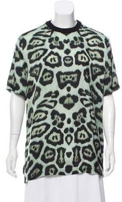 Givenchy Animal Print Short Sleeve Top