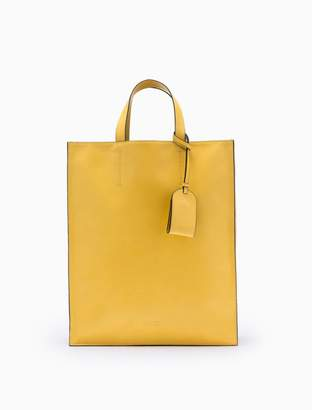 Calvin Klein pinched leather north/south tote bag
