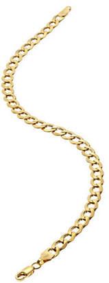 Tag Heuer FINE JEWELLERY Mens 10K Yellow Gold Curb Bracelet