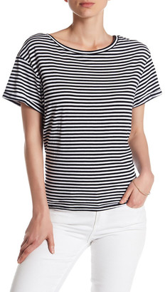 Olivia Sky Stripe Print Tie-Back Tee $48 thestylecure.com