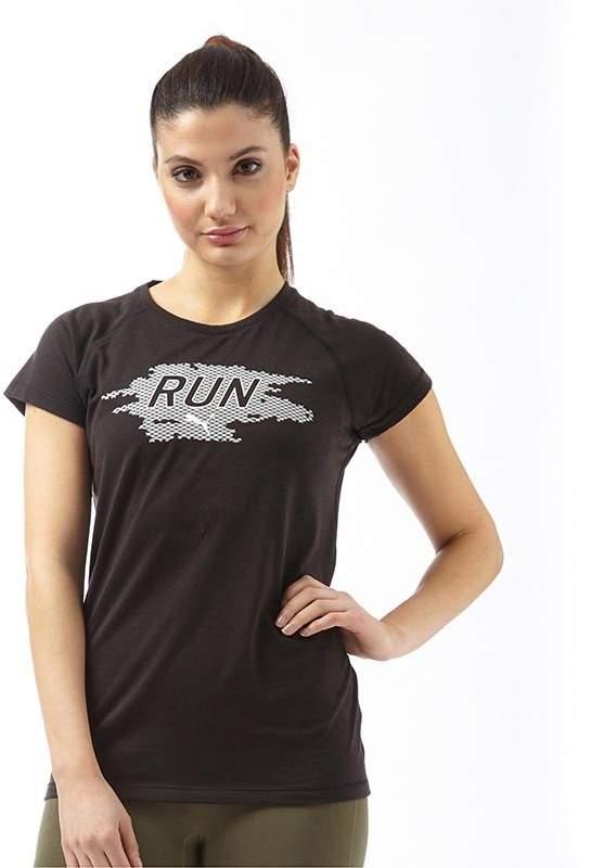 Damen Run DryCELL T-Shirt Schwarz