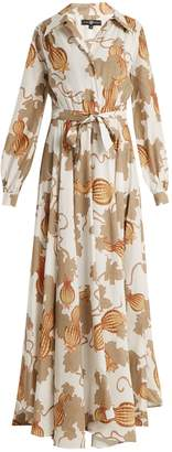 DAY Birger et Mikkelsen EDWARD CRUTCHLEY Tie-waist leaf-print woven dress