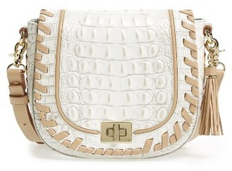 Brahmin Mini Sonny Leather Crossbody Bag - Ivory $295 thestylecure.com
