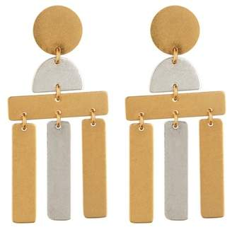 Madewell Two-Toned Flatform Statement Earrings