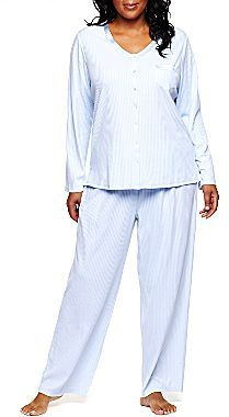 JCPenney Earth Angels® Drop Needle Pajama Set - Plus