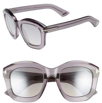 Tom Ford Julia 50mm Gradient Square Sunglasses