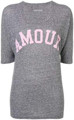 Zadig & Voltaire Zadig&Voltaire over-dyed amour T-shirt