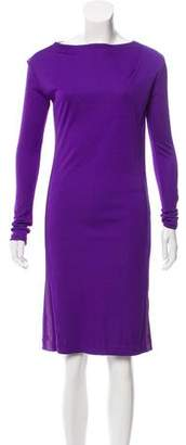Narciso Rodriguez Long Sleeve Midi Dress