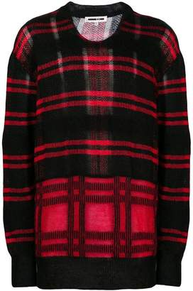 McQ check crew neck jumper