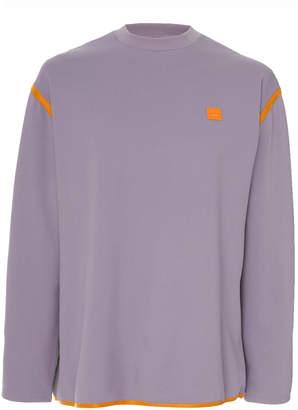Acne Studios Ferke Shell-Paneled Jersey Sweatshirt